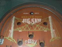 1933 Rockola Chicago Worlds Fair JIGSAW Pinball Machine rare antique game
