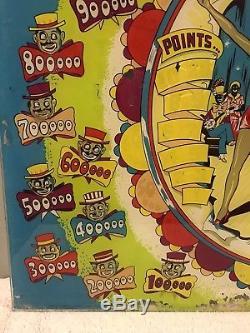 1951 Gottlieb Minstrel Man Woodrail Pinball Machine ORIGINAL Backglass
