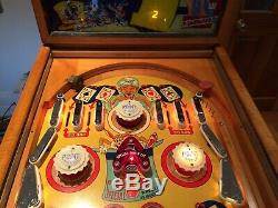 1954 Mystic Marvel Pinball Machine Rare Antique Magician Theme Gottlieb Juke Box
