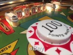 1971 Gottlieb Drop-a-Card Pinball Machine