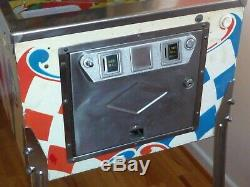 1974 BALLY'TWIN WIN' VINTAGE 2 PLAYER PINBALL MACHINE Collection Only