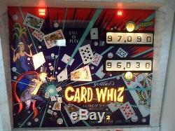 1976 Gottlieb Card Whiz Pinball Machine. Professionally restored to A+ cond