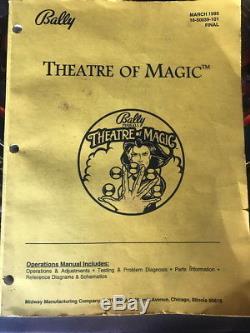 1995 Bally Theatre Of Magic Pinball Machine