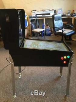 27 Deluxe Mini Virtual Pinball Machine Pure Black With Legs