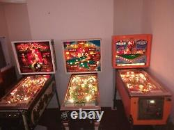 3 pinball games from the Williams Bally 8 Ball series