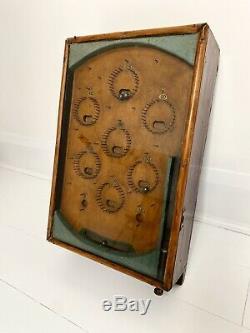 A Vintage/antique Wooden Tabletop Pinball Arcade Machine Fairground