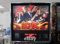 AC/DC Pinball Stern Arcade Machine. Nice. Free Shipping. Led Kit Installed