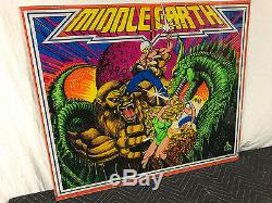Atari Middle Earth Pinball Machine Game Backglass Original not Repro
