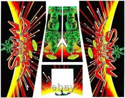 Attack From Mars Pinball Machine CABINET Decal Set