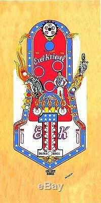 BALLY Evel Knievel Pinball Machine Playfield Overlay