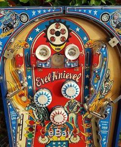 BALLY Evel Knievel Pinball Machine Playfield plastics Vintage original
