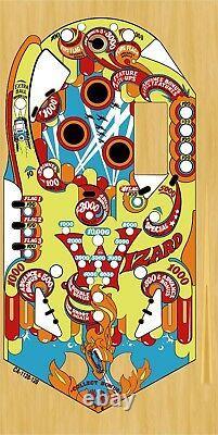 BALLY WIZARD Pinball Machine Playfield Overlay