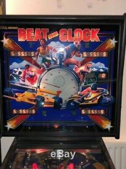 Bally Beat The Clock Pinball Machine 1980s Stunning Pin Games Room