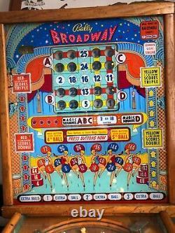 Bally Bingo BROADWAY 1955