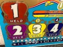 Bally Bingo Futurity Horse Race Pinball Machine Game Backglass
