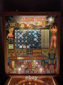 Bally Bingo Machine Pinball Machine Antique Collectable Vintage MIAMI BEACH