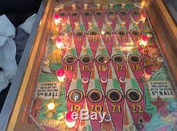 Bally Bingo Pinball machine Silver Sales from the 1960