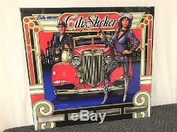 Bally City Slicker Pinball Machine Game Backglass NOS Original VERY RARE