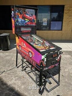 Bally Corvette Pinball Machine! Nice Game Perfect for Car Guy or Collector