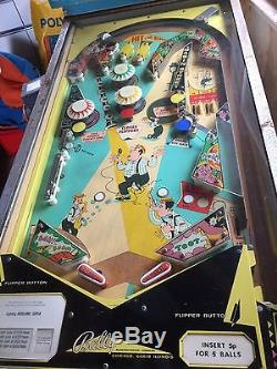 Bally Dixieland Pinball Machine a genuine 1968 rare and vintage coin-op pin