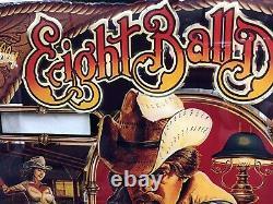 Bally Eight Ball Deluxe Pinball Machine Game Backglass