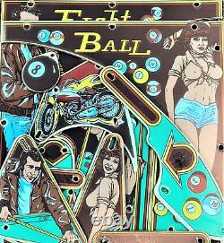 Bally Eight Ball Pinball Machine Playfield Plastic Set NEW RARE Silk Screened