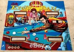 Bally Eight Ball Pinball Machine Translite