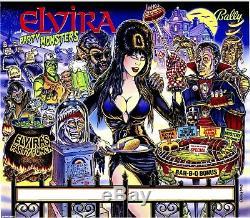 Bally Elvira And The Party Monsters Pinball Machine Translite