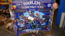 Bally HARLEM GLOBETROTTERS Pinball Machine Backglass Mylar Reproduction-Gorgeous