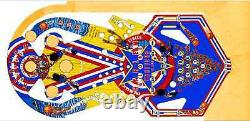 Bally Harlem Globetrotters Pinball Machine Playfield Overlay