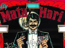 Bally Mata Hari Pinball Machine Game Backglass