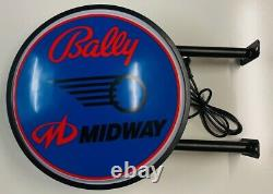 Bally Midway Pinball Machine Bar Lighting Wall Sign Light LED Man Cave Gift