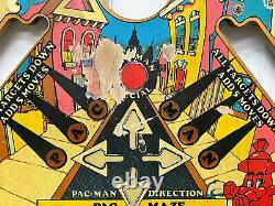 Bally Mr & Mrs Pac Man Pinball Machine Game Playfield