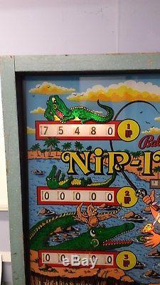 Bally Nip It Vintage EM Pinball Machine 1972