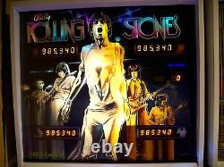 Bally Rolling Stones Pinball Machine Translite Backglass