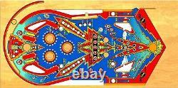 Bally Six Million Dollar Man Pinball Machine Playfield Overlay