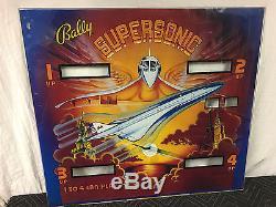 Bally Supersonic Pinball Machine Game Backglass Original
