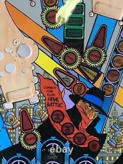 Bally The Shadow Pinball Machine Restored Clear Coated Playfield