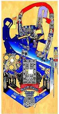 Bally Twilight Zone Pinball Machine Playfield Overlay