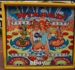 Bally Wizard! Pinball Machine 1975 Elecro- Mechanical The Who Pinball Wizard