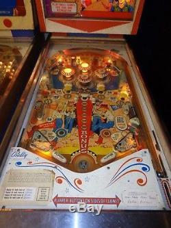 Bally gold rush pinball machine (rare)