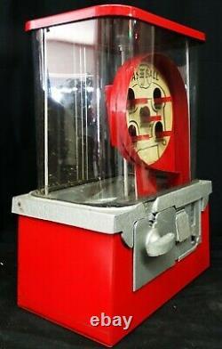 Baseball Pinball One Cent Gumball Machine Circa 1950's