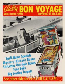 Bon Voyage Pinball Machine 1974 Great Intro Pinball 1974