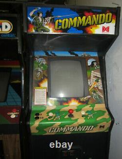 COMMANDO ARCADE MACHINE by CAPCOM (Excellent Condition) RARE