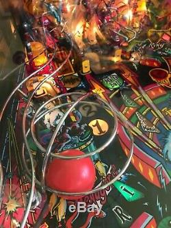 Cirqus Voltaire Pinball 1997 by Bally Rare Preview Model Excellent Condition