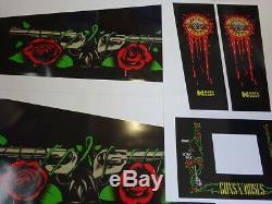 Data East Guns N Roses Cabinet Pinball Machine Art never used