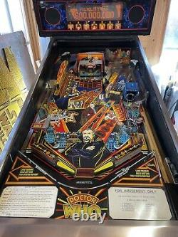 Doctor Who Pinball Machine Bally CASH OR BANK TRANSFER ONLY