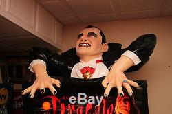 Dracula Pinball Machine Topper with Red Led Eyes