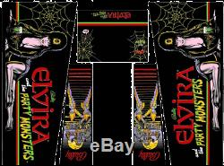 Elvira And The Party Monsters Pinball Machine Cabinet Decals NEXT GEN LICENSED