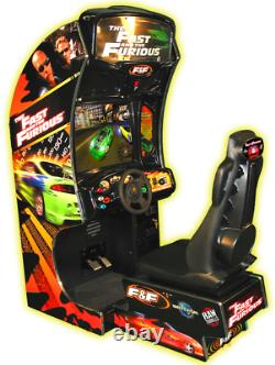 FAST and FURIOUS ARCADE MACHINE by RAW THRILLS 2004 (Excellent Condition) withLCD